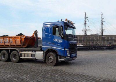 Container te zeebrugge